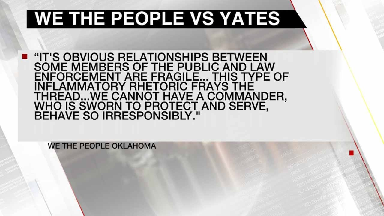 'We The People' Call For Tulsa Police Major's Resignation After 'This Is War' Article