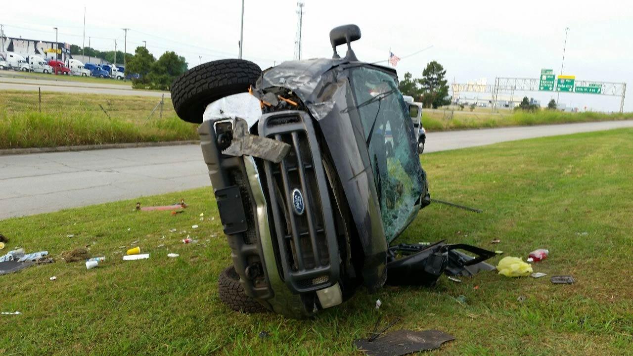 Kansas Man Injured In Sapulpa DUI Rollover Crash