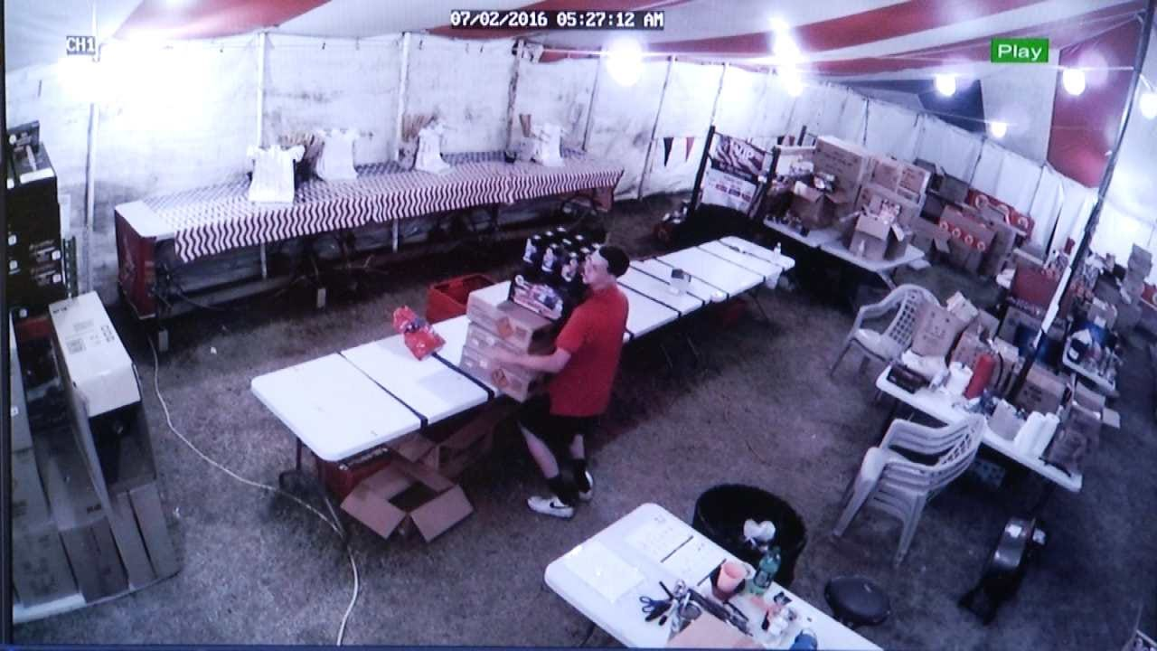 Thieves Caught On Camera Stealing From Owasso Fireworks Stand