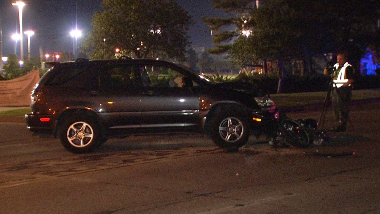 Motorcycle Rider Critical After Tulsa Crash With SUV