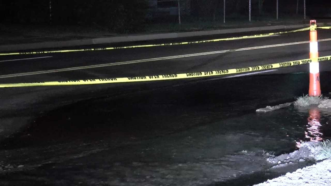Water Main Break Impacts Traffic On Tulsa Boulevard