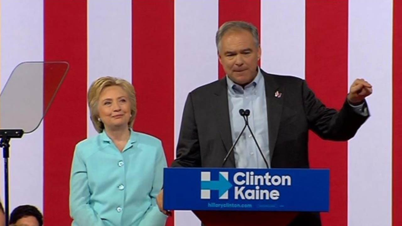 Clinton Introduces VP Pick Tim Kaine At Joint Campaign Event