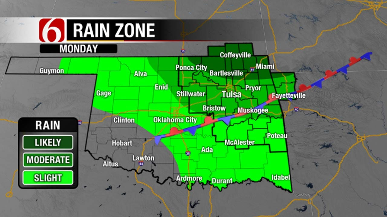 Another Day Of Heat, Then Chance Of Rain Arrives In NE Oklahoma