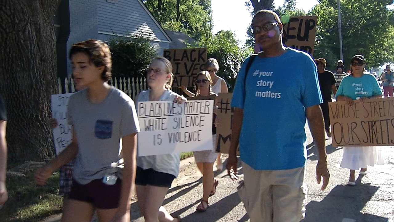 'Black Lives Matter' Group Marches Through Brookside