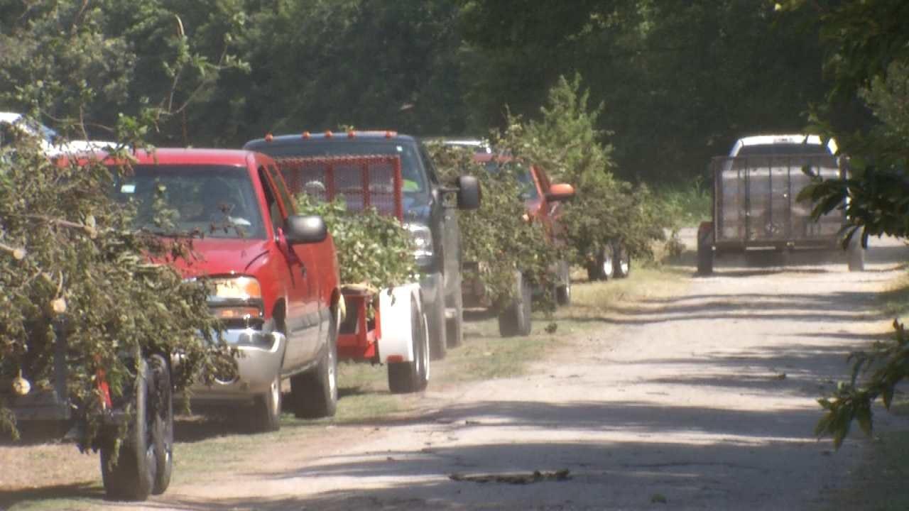 Broken Arrow, Bixby, Jenks Help Clean Up Storm Debris