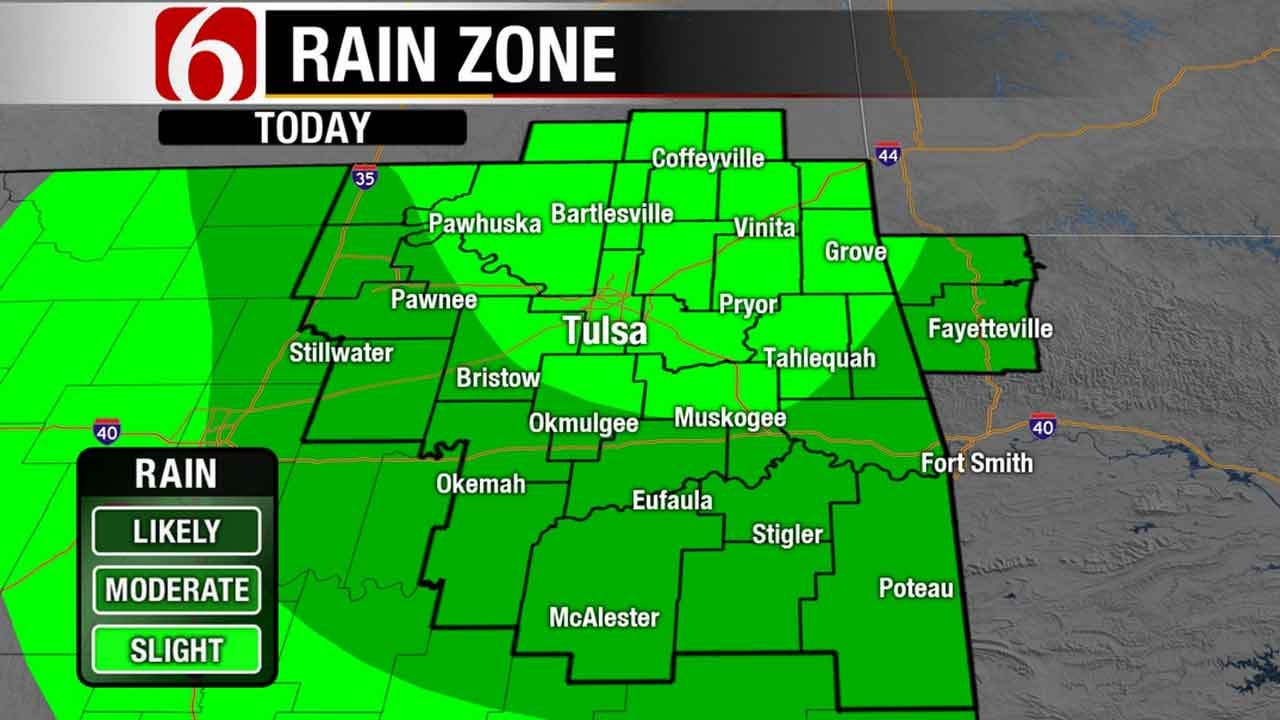 Chance Of Rain In Forecast Daily For Green Country