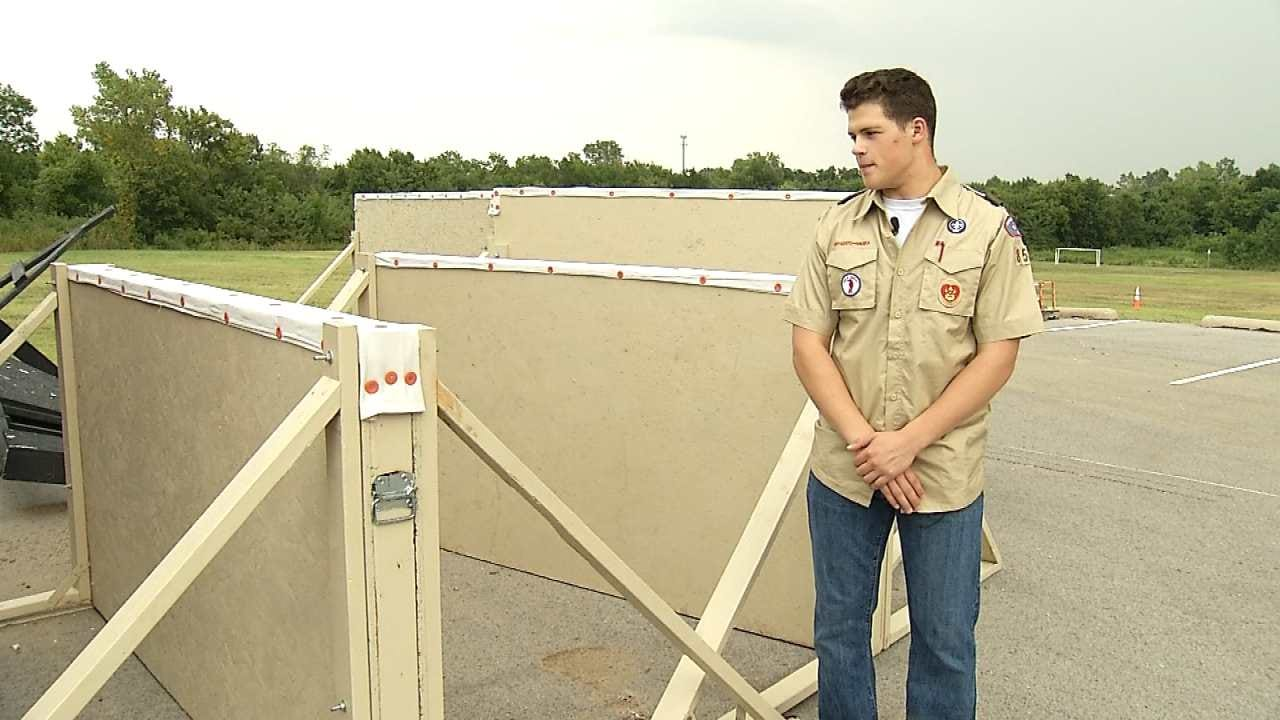 Owasso Teen Shows Support For Police With Eagle Scout Project