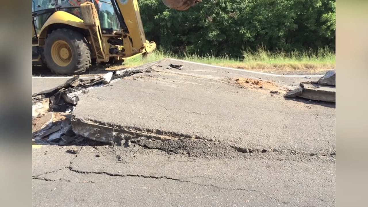 Heat Causes Sequoyah County Highway To Buckle