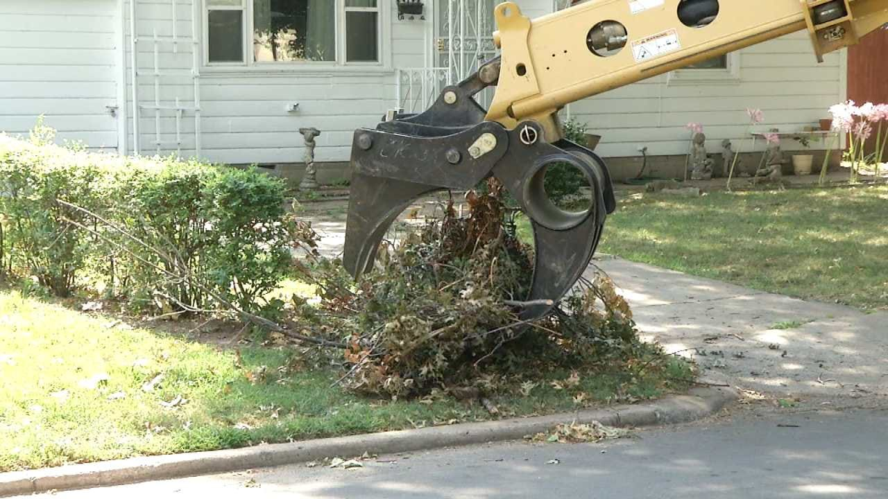 Tulsa Homeowner: City Crew Damages Yard While Removing Storm Debris
