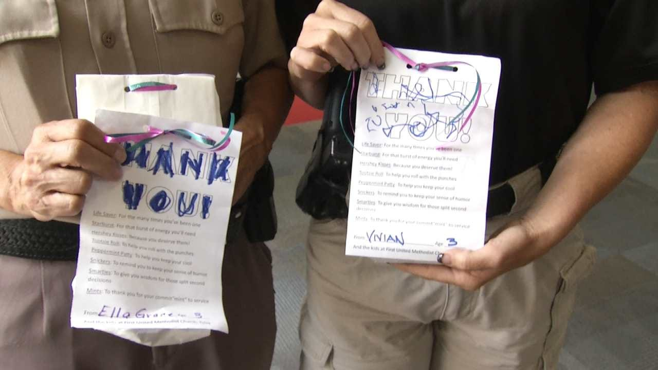 Children Say 'Thanks' To Tulsa Area Law Enforcement Officers
