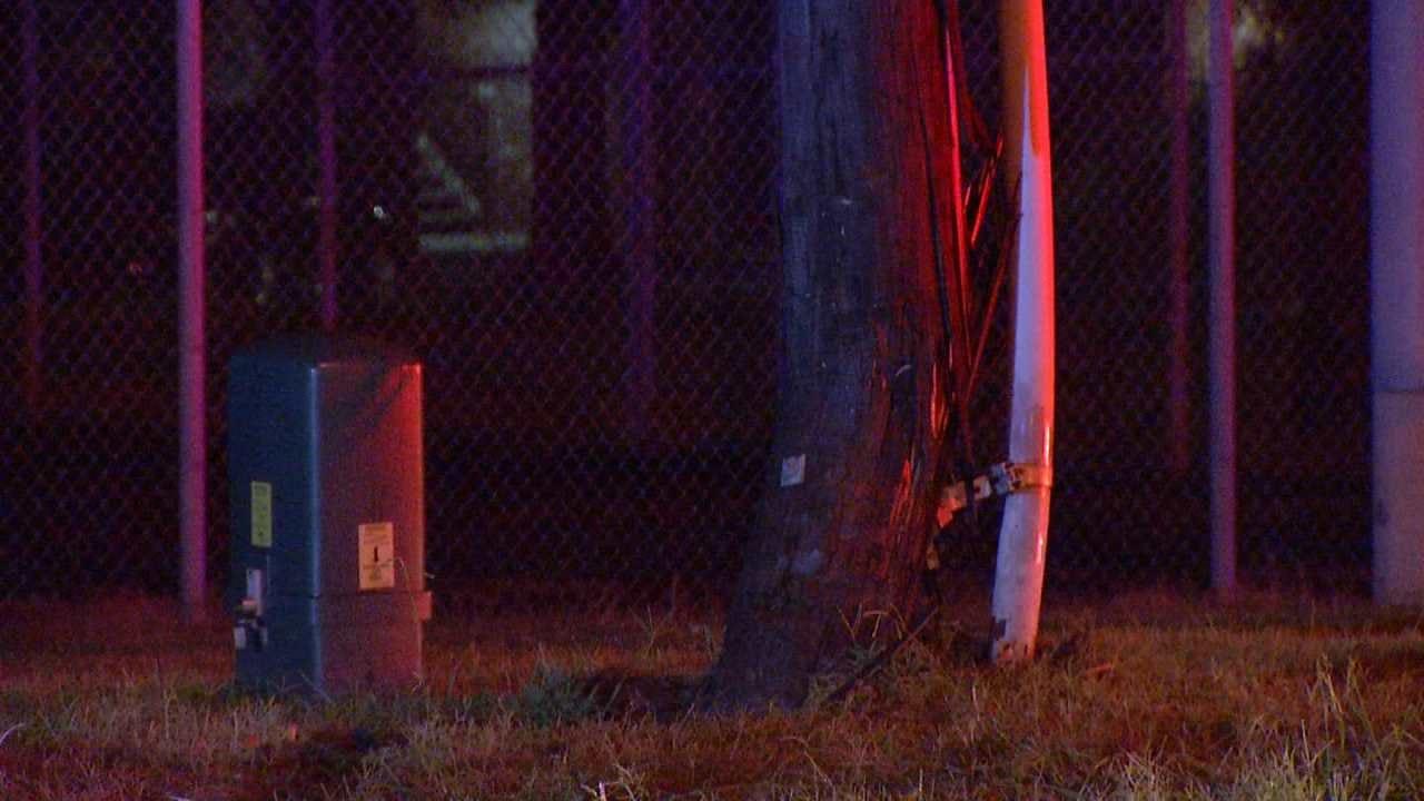 Police: Sleepy Driver Hits Tulsa Power Pole