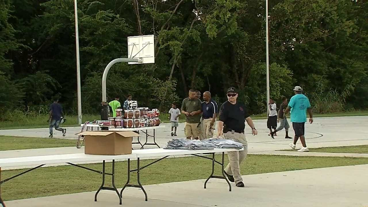 Muskogee Police Officers Work At Bonding With The City's Youth