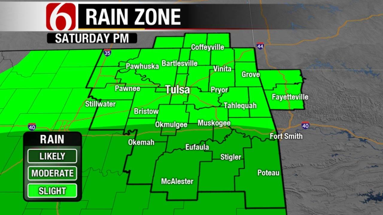 Storms With Heavy Rain, Lightning Move Across Eastern Oklahoma