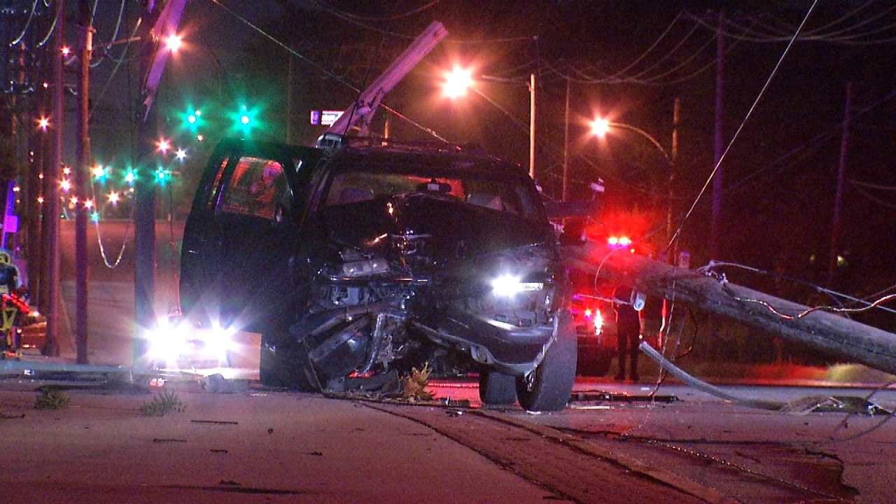 Coughing Fit Sends Woman Crashing Into Tulsa Power Pole, Police Say