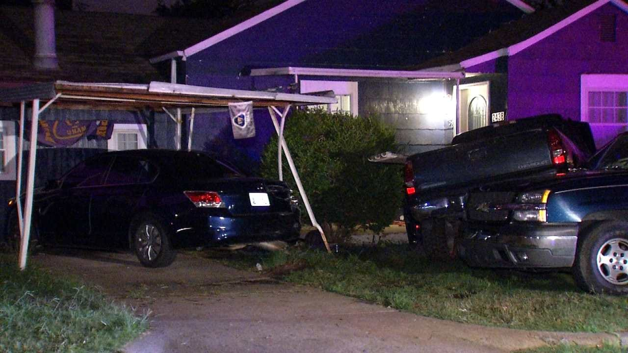 Hit-And-Run Tulsa Driver Damages Cars, House, Gas Meter