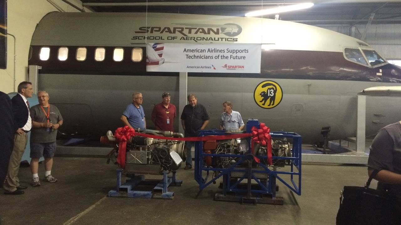 American Airlines Donates Engines To Spartan In Tulsa