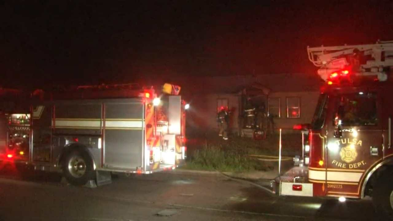 Fire Damages Tulsa Home