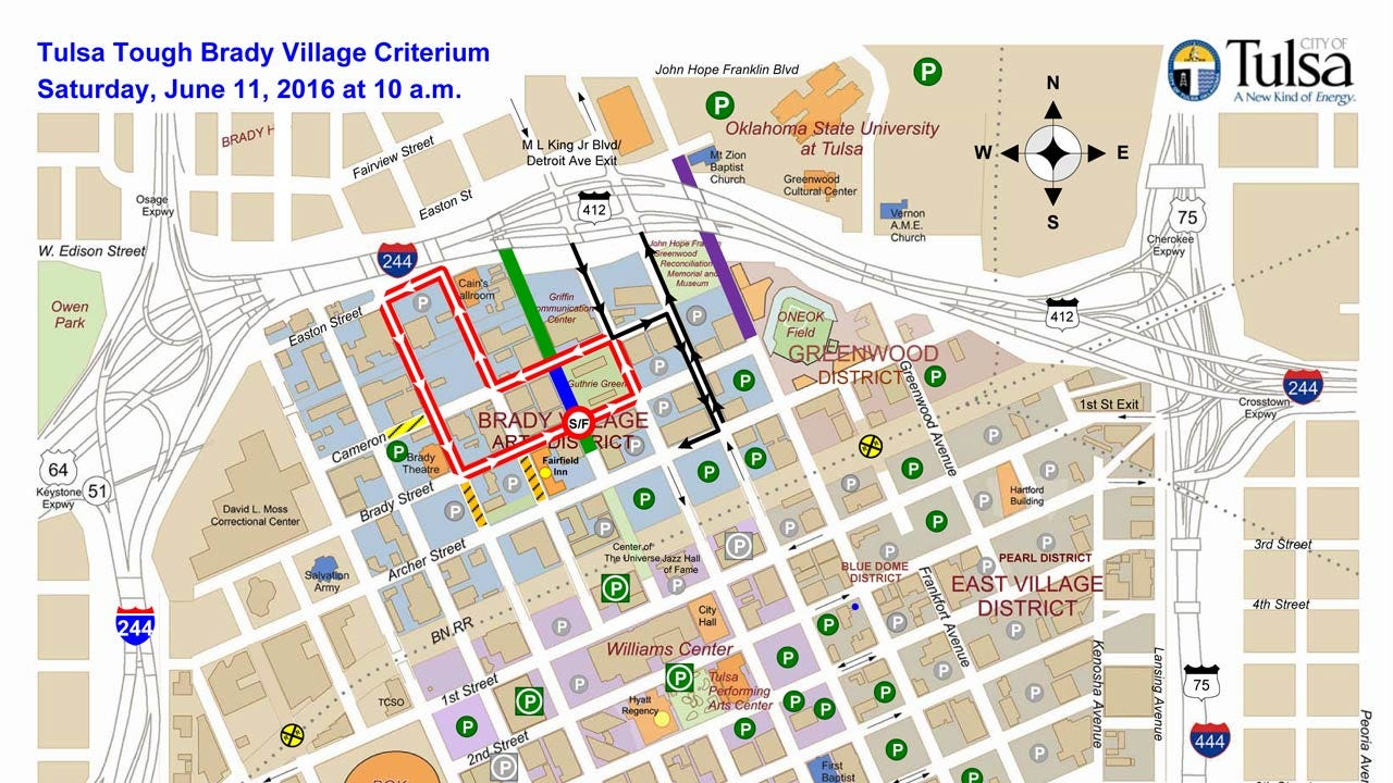 Many Downtown Streets To Close For Tulsa Tough