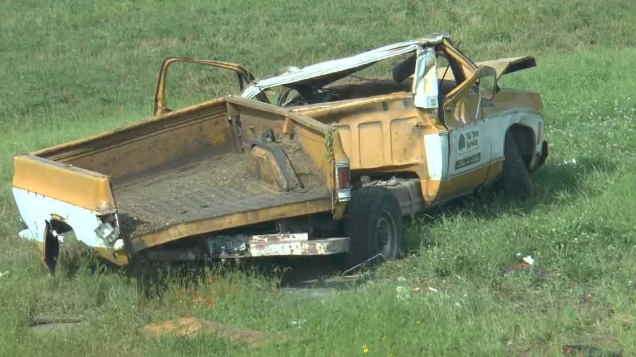 One Dead, One Hurt In Creek Turnpike Rollover Wreck