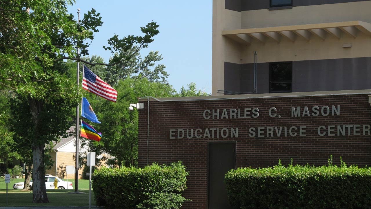 Rainbow Flag Flies Outside Tulsa Public Schools Office