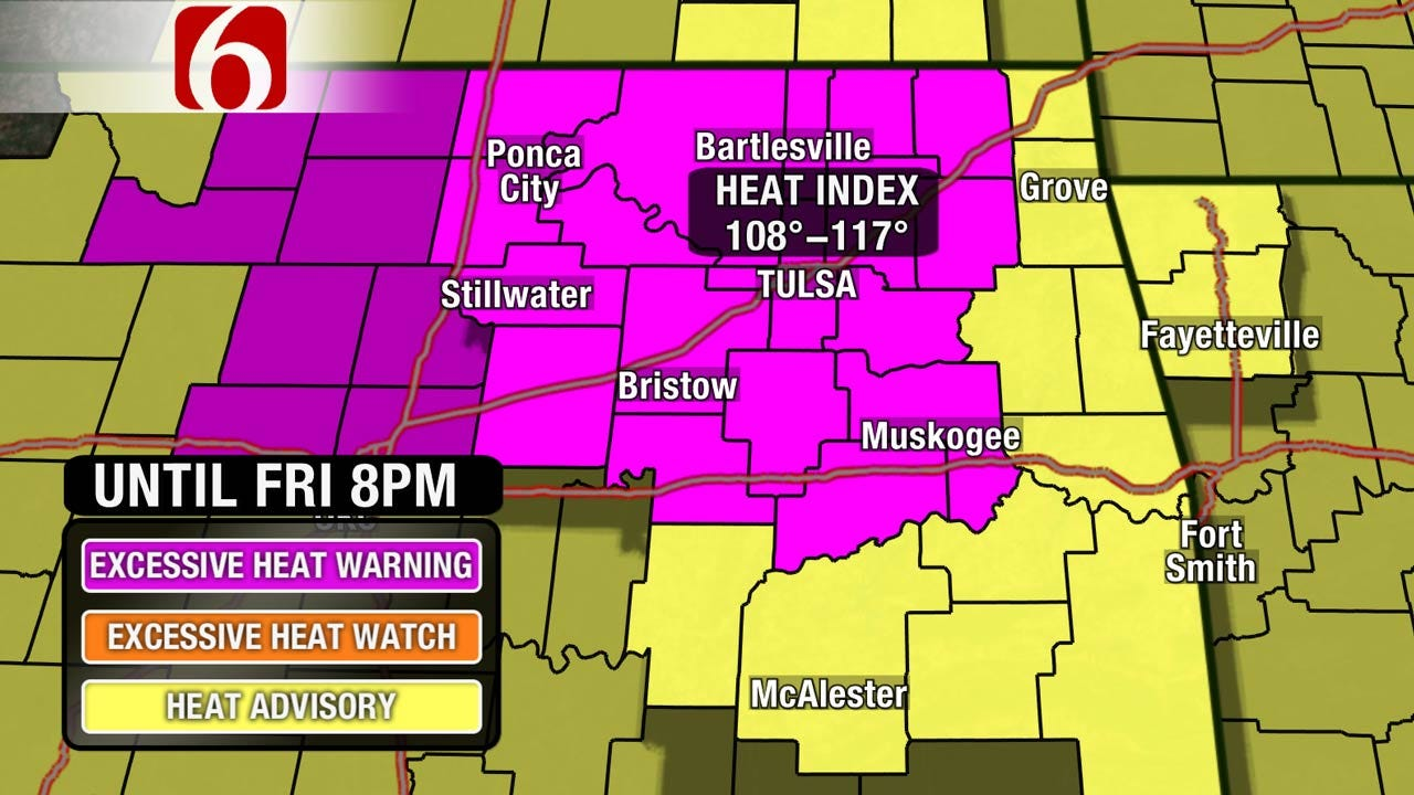 Excessive Heat Warning And Advisories Continue For Oklahoma