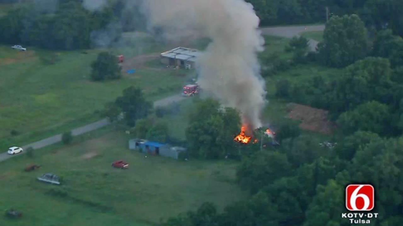 Fire Destroys Tulsa Home Near Highway 11