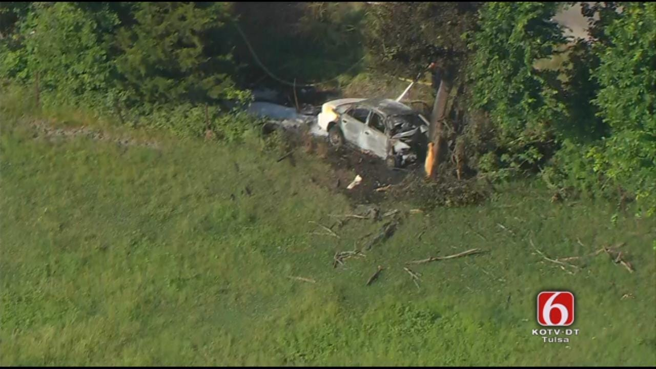 Woman, Son Hurt In Fiery Crash Near Avant