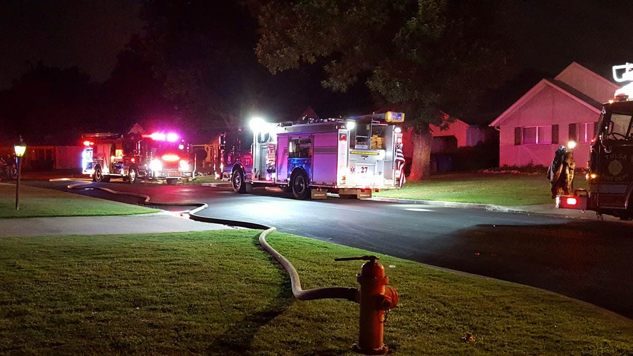 Fire Destroys Back Bedroom Of A Tulsa Home
