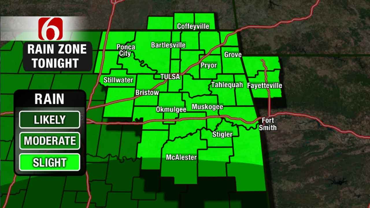 Chance Of Scattered Showers Continues Across Northeast Oklahoma