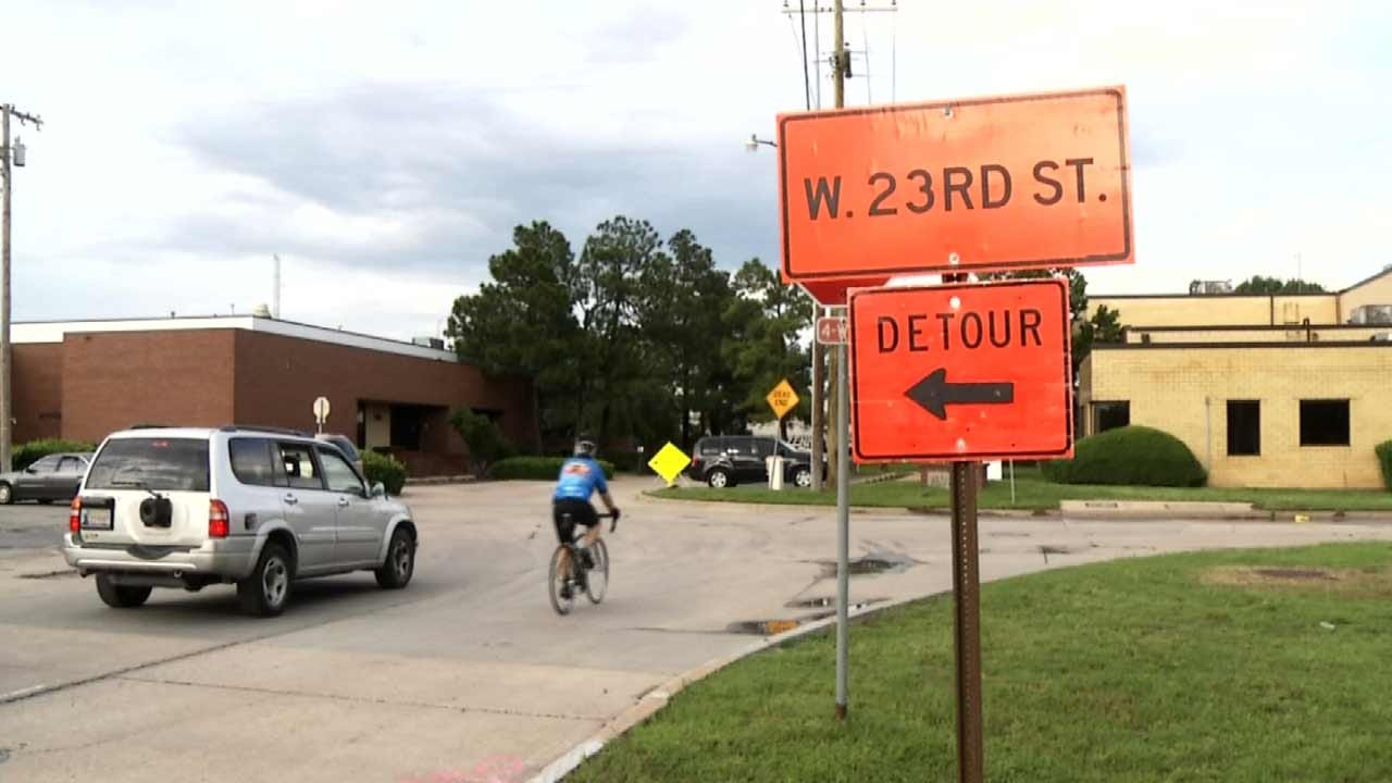 Drivers, Bicyclists Alike Feeling Impact Of West Tulsa Bridge Construction