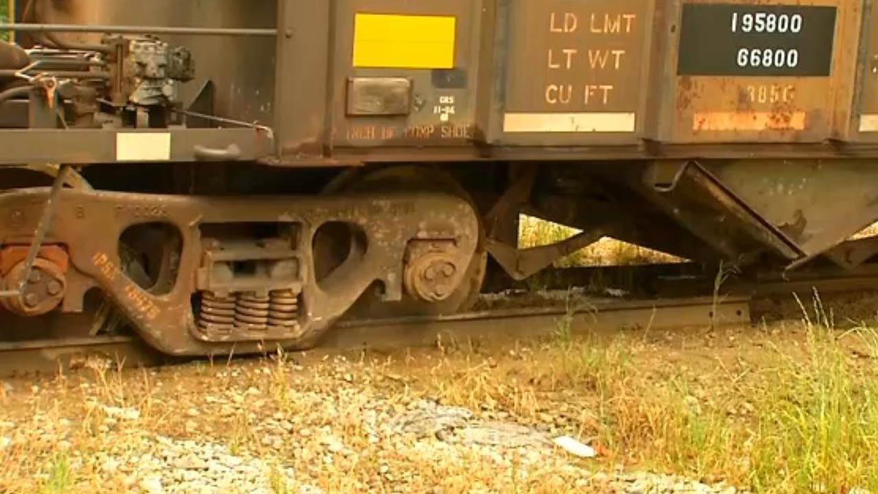 Train Derailment Blocks Downtown Tulsa Street