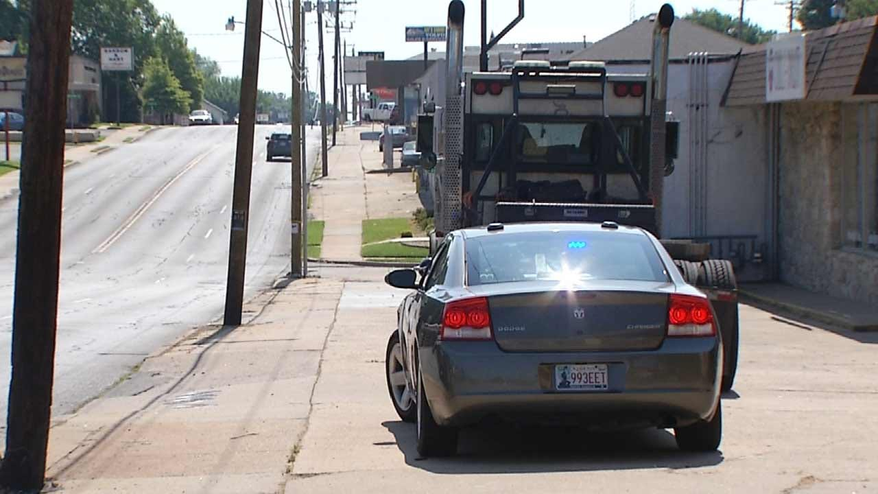 Elderly Tulsa Man Knocked Over By Semi Truck