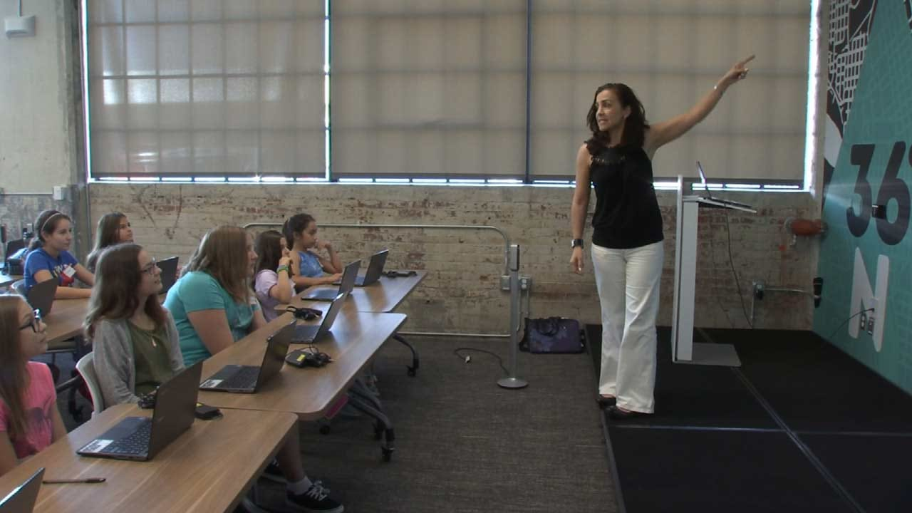 Green Country Students Attend Coding For Girls Summer Camp