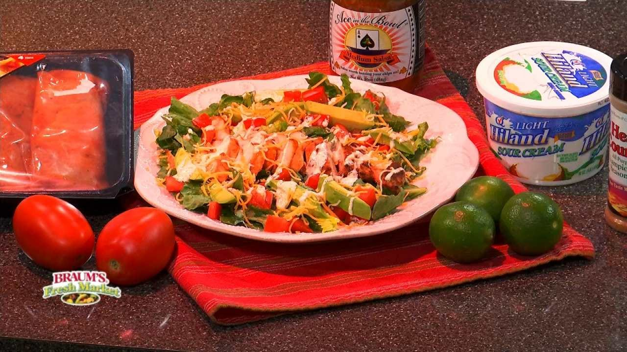 Grilled Chicken Salad With Creamy Cilantro Vinaigrette