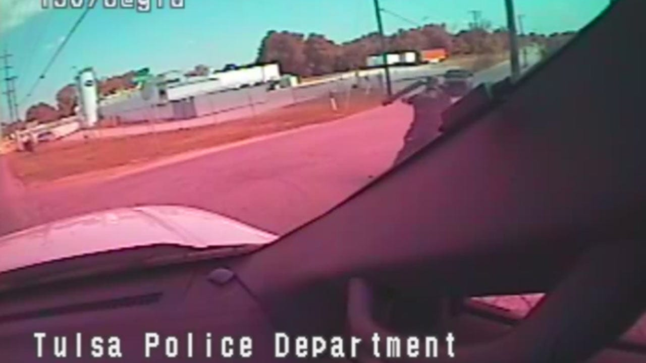 New Video Of Fatal Shooting Shows Suspect Swerving At Tulsa Police Sergeant