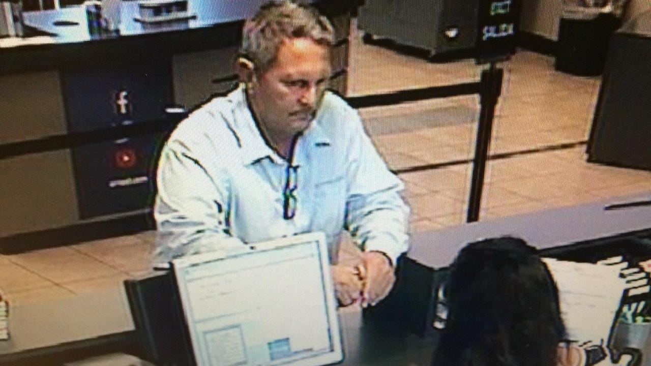 Tulsa Bank Robbery Suspect Identified From Surveillance Photos