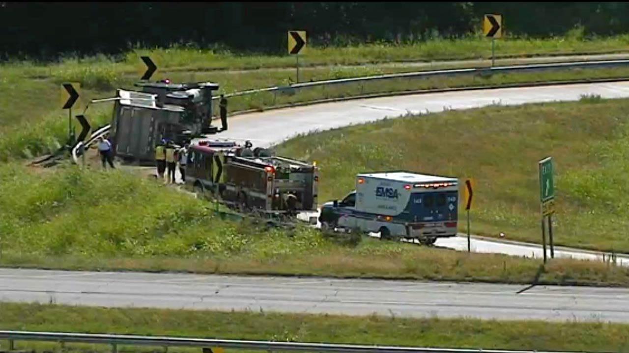 Truck Crash Closes Tulsa Highway Exit Ramp