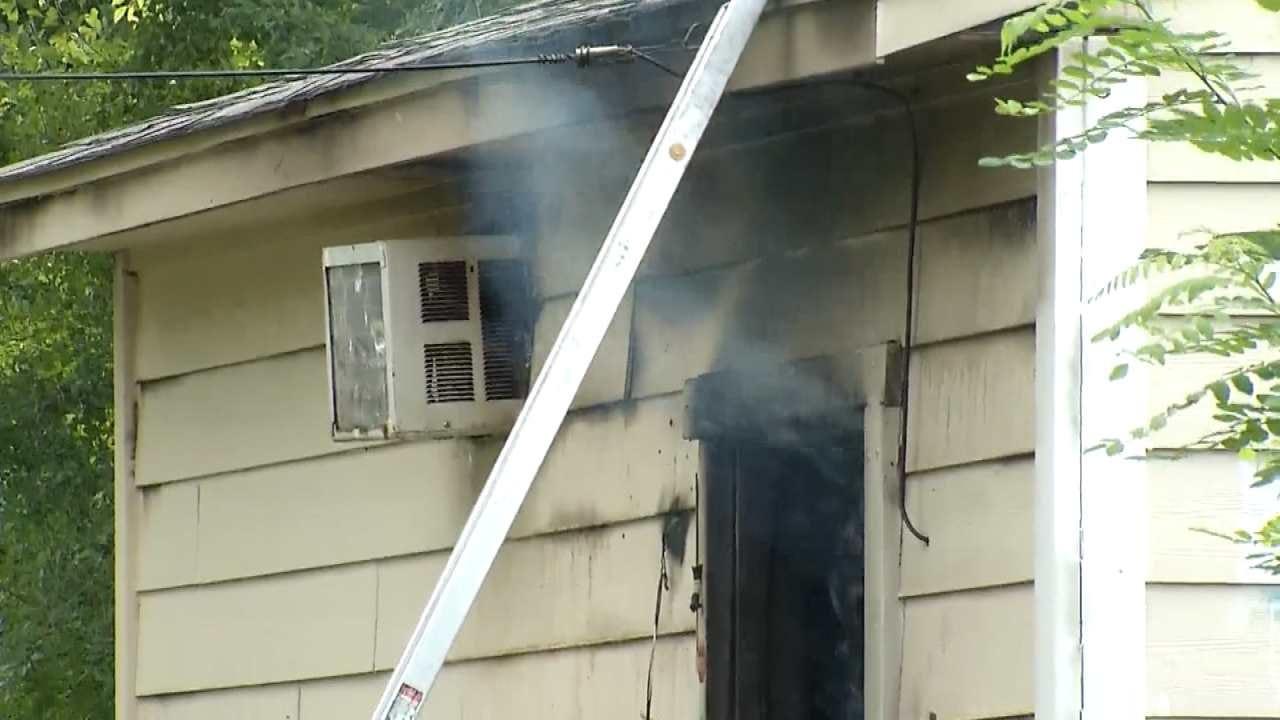 Tulsa Garage, Pickup Damaged In Fire
