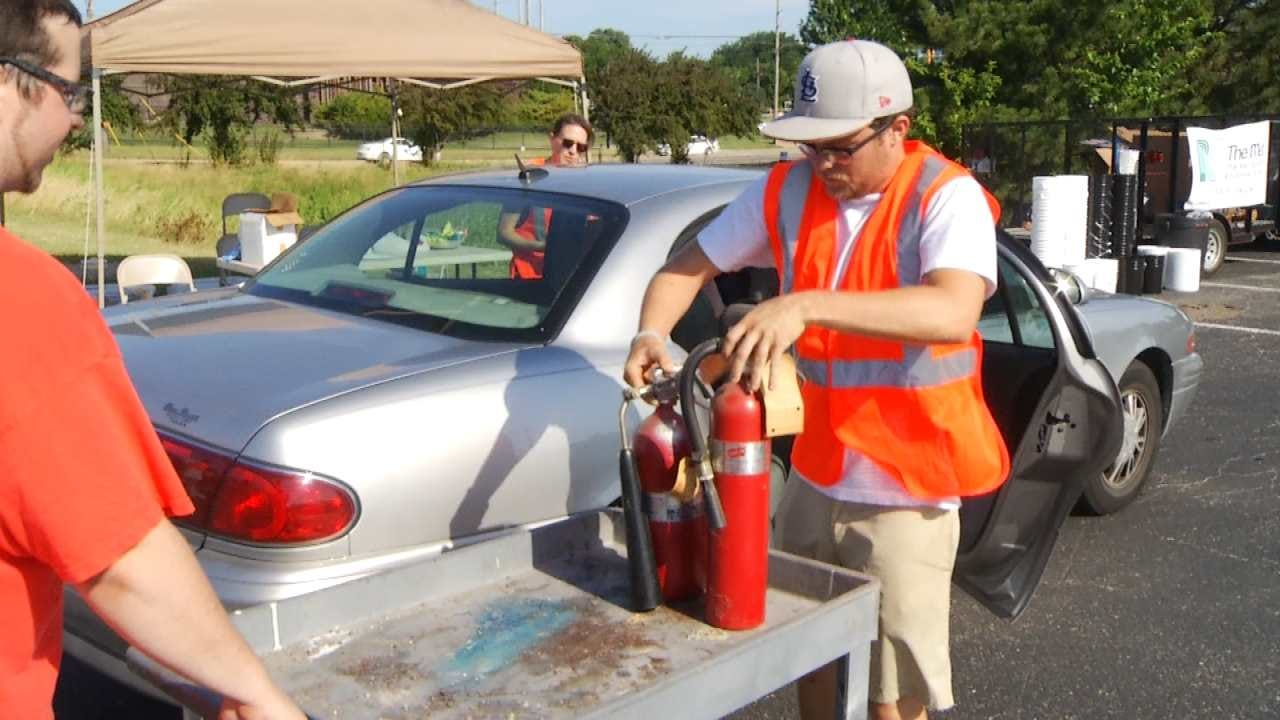 M.E.T. Collects Old Smoke Alarms, Fire Extinguishers