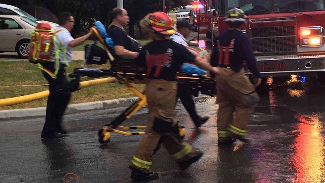 Firefighters Battle House Fire In Tulsa Neighborhood