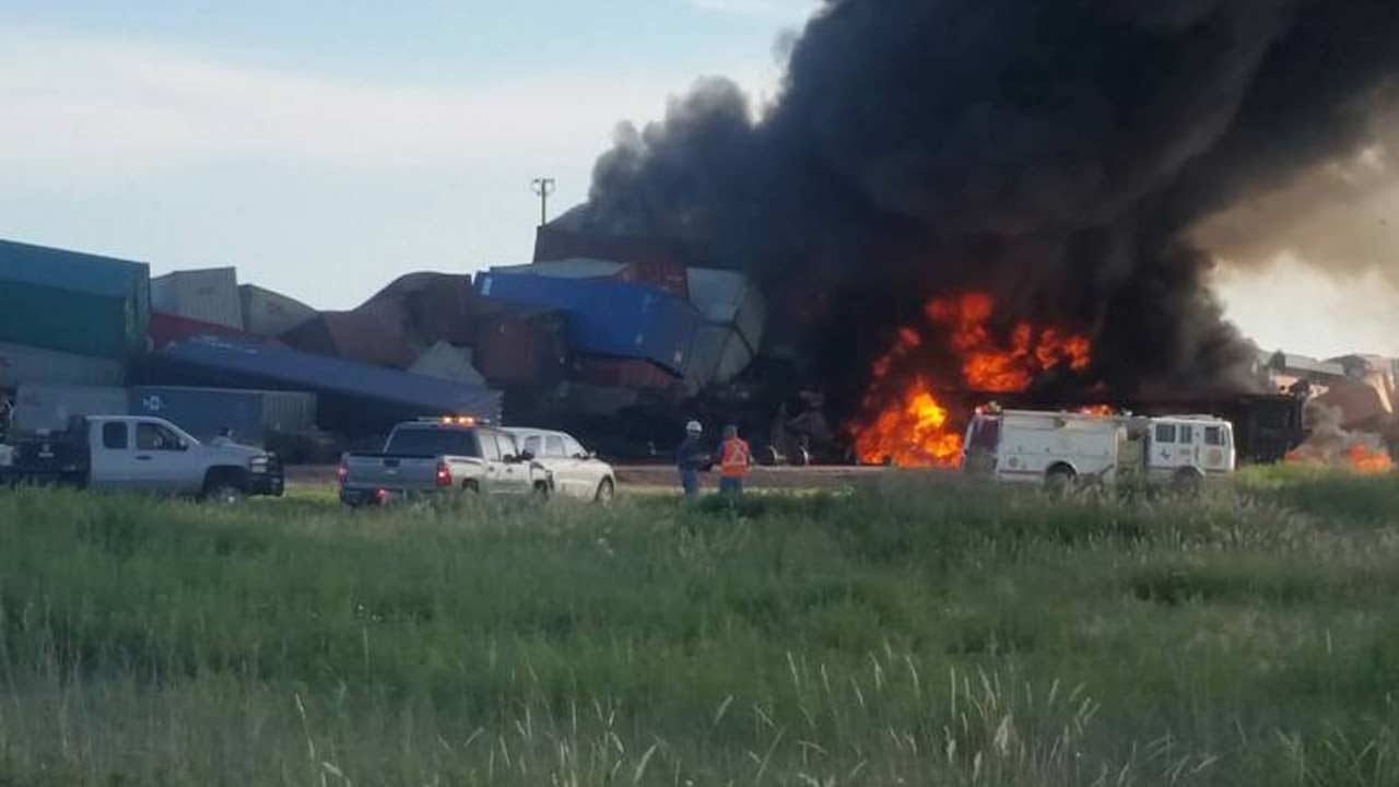 Two Trains In Fiery Wreck In Texas Panhandle