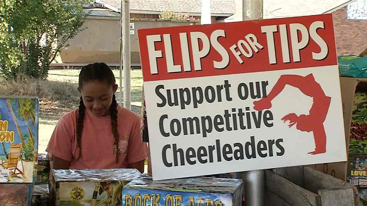 Green Country Helping Out After Cheerleaders Say Thieves Steal $2,000 In Fireworks