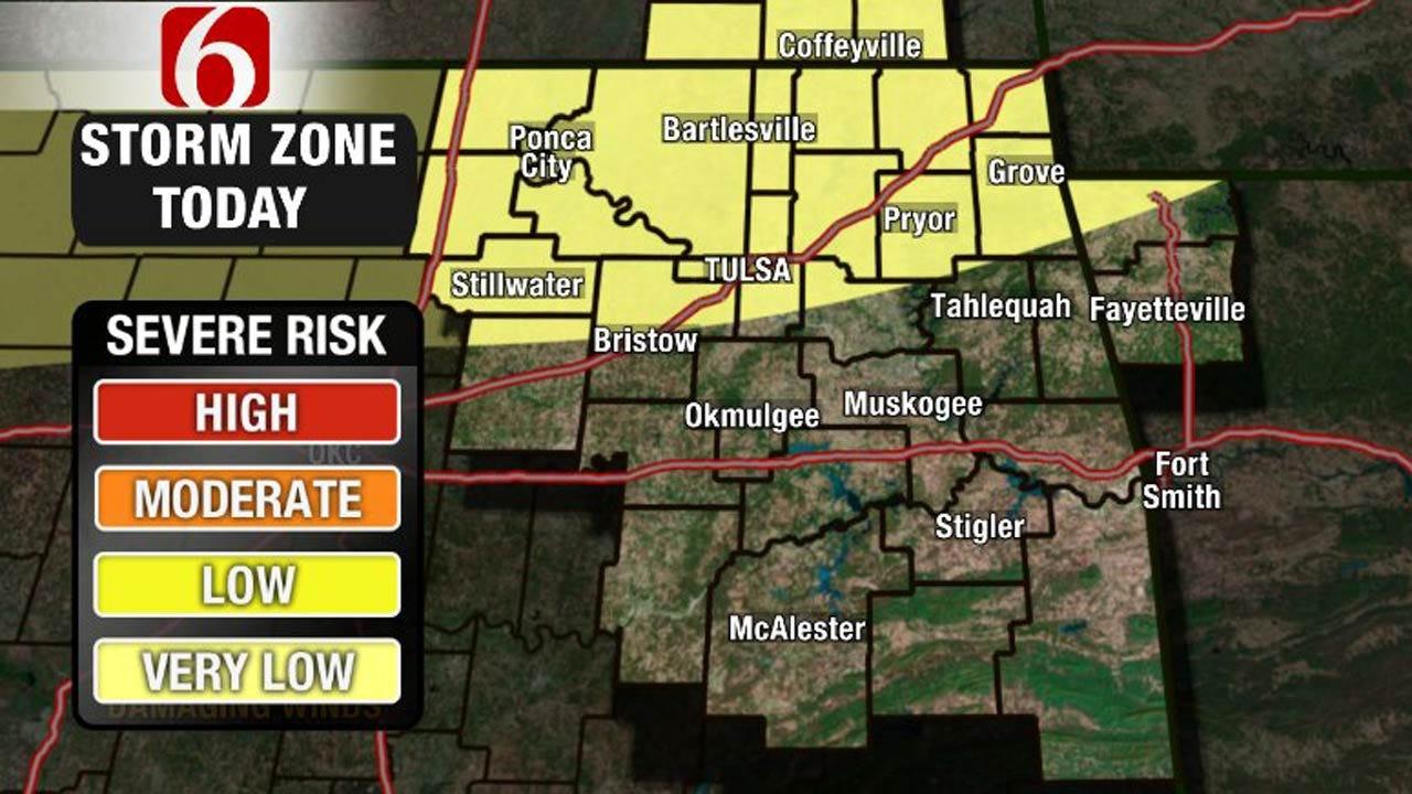 A Few Storms Across Oklahoma Thursday