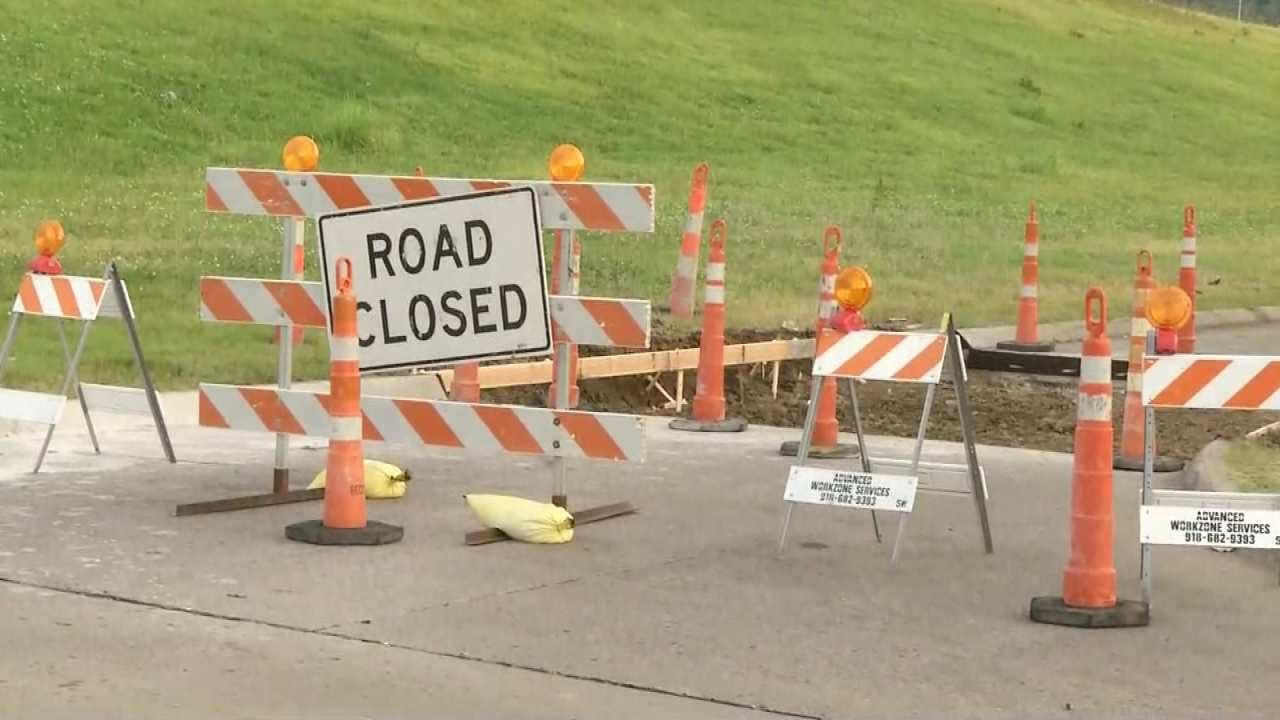 Repairs Close Ramps On Tulsa's Tisdale Expressway At Pine