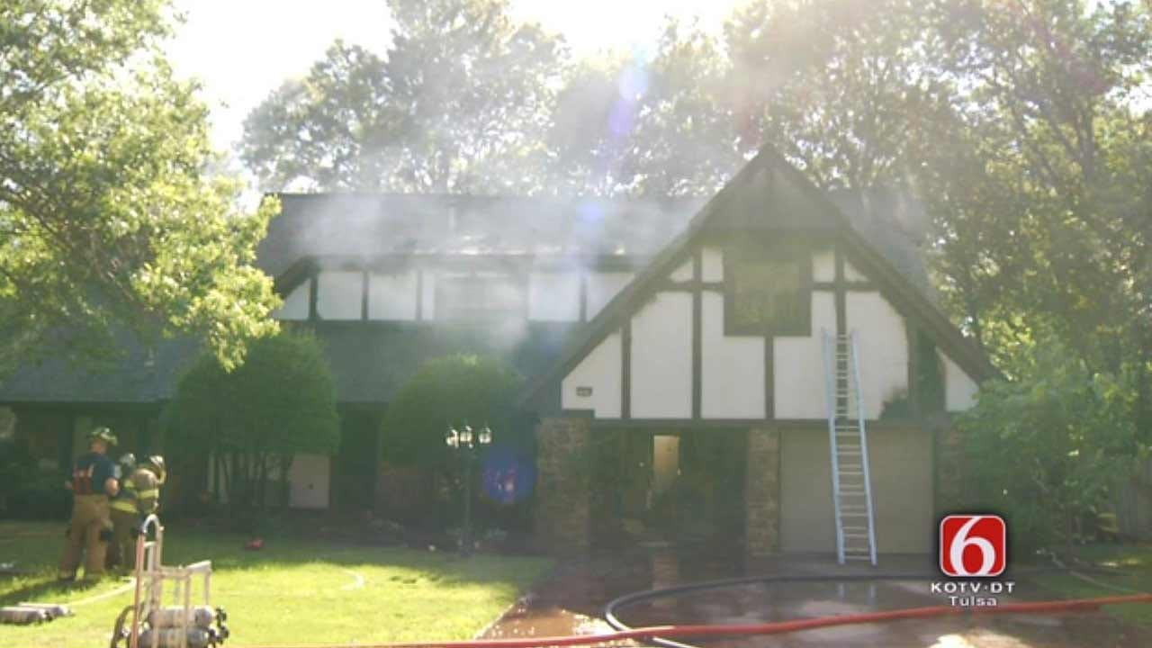 Firefighters Respond To Fully Involved Tulsa House Fire