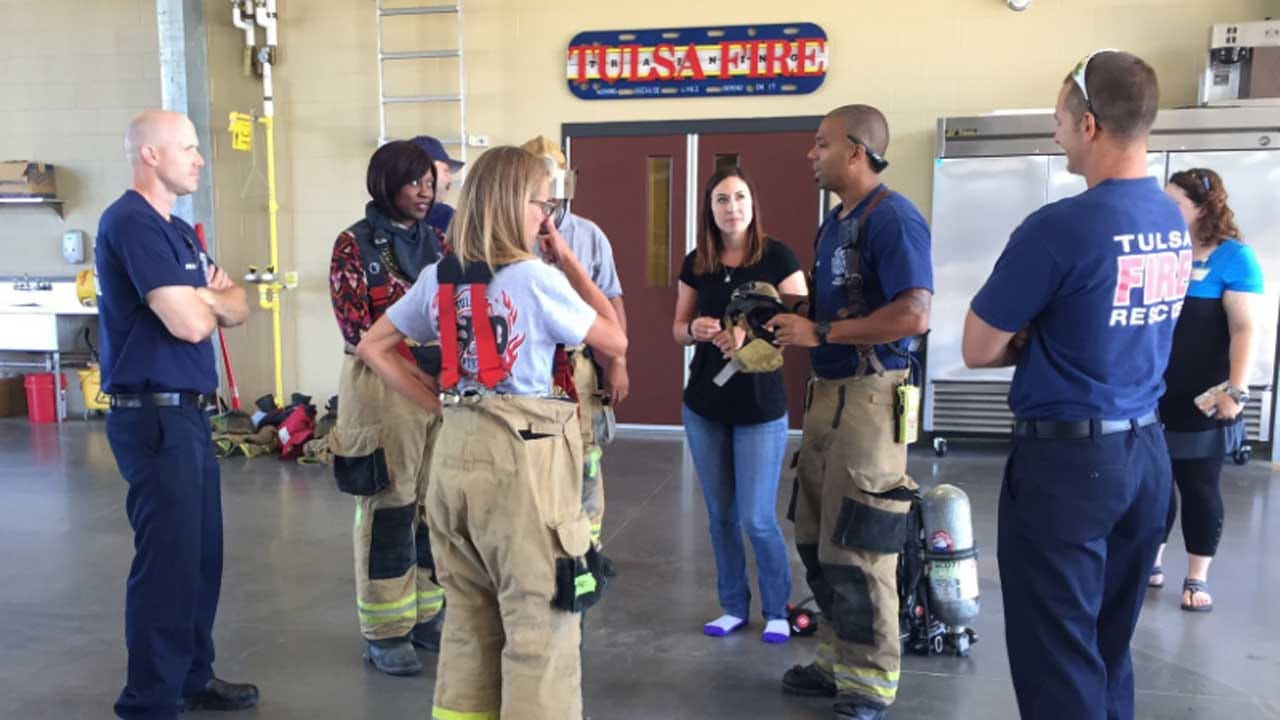 Tulsa City Councilors Try On Firefighting
