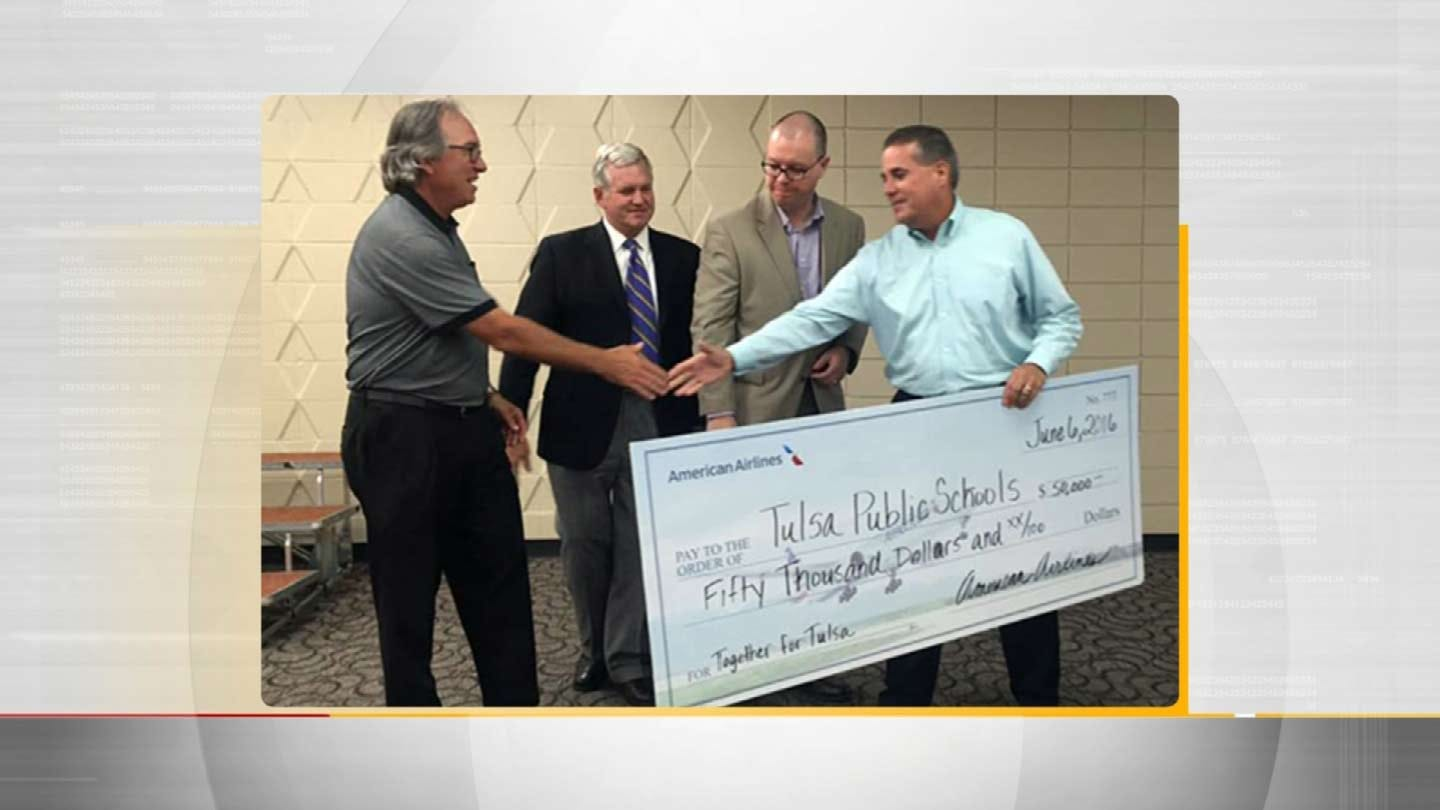 American Airlines Gives $50,000 To Tulsa Public Schools