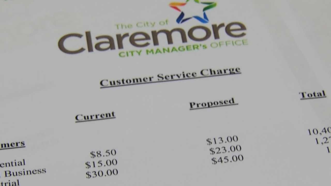 Claremore City Councilors Approve Increase To Utility Service Charge