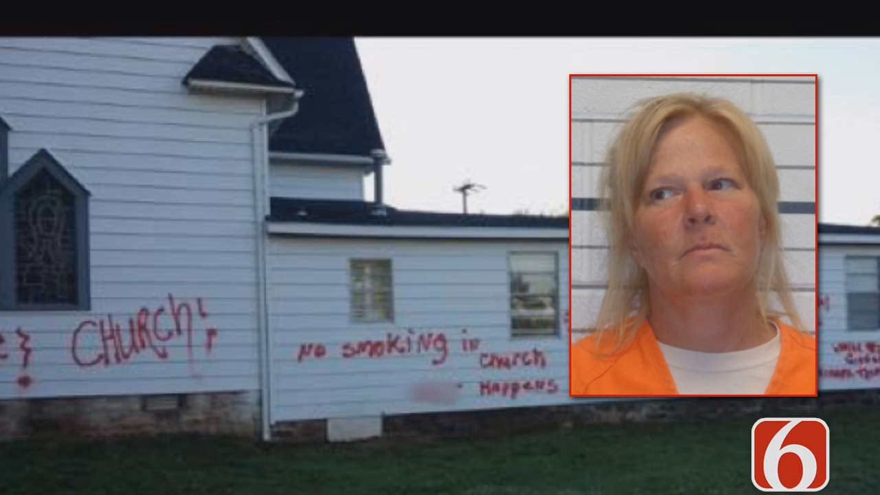 Woman Charged With Vandalizing Depew Churches Says She Was 'Spreading Love'