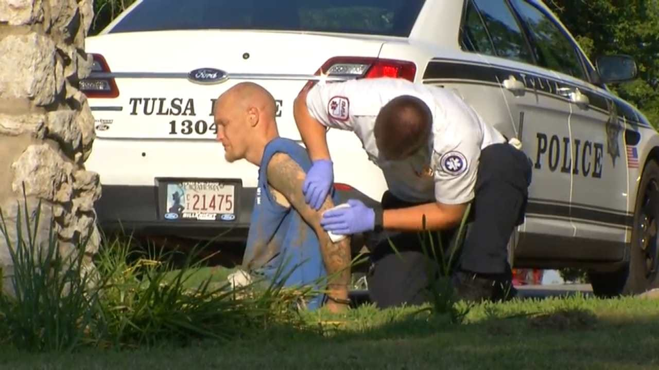 Driver Found Hiding In Trash Can After Running From Tulsa Police